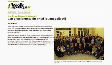 Photo: 2014-01-16 NR Les enseignants du privé jouent collectif