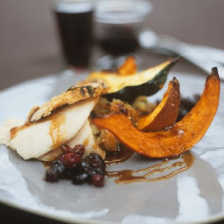 Roast Turkey with Squash