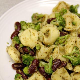 Warm Pesto Tortellini Salad