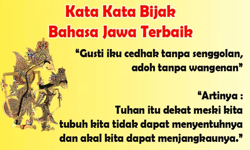 Download Kata Kata Bijak Bahasa Jawa Terbaik Apk Latest