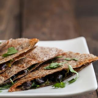 Spinach and Black Bean Quesadilla.