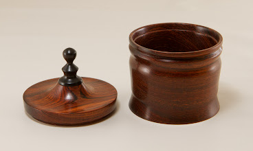"Photo: Mike Colella 3"" x 3"" ring cup [rosewood, ebony]"