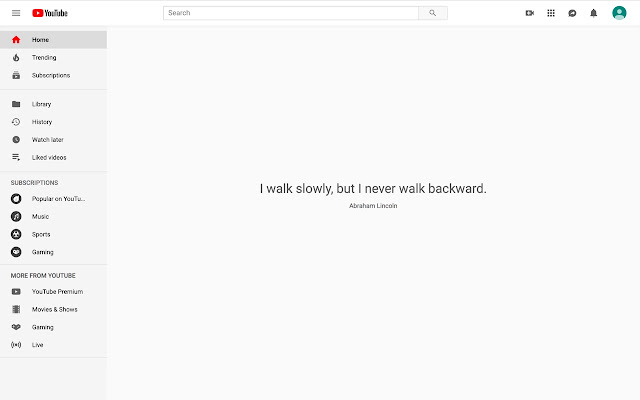 Hide youtube feed