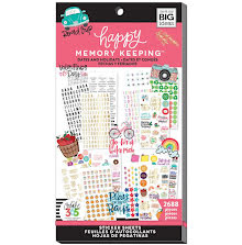 Me & My Big Ideas Happy Memory Keeping Sticker Value Pack - Dates & Holidays