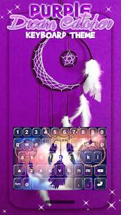 Purple Dream Catcher Keyboard Theme - náhled