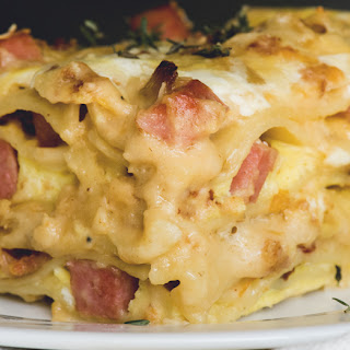 Ham And Cheese Overnight Breakfast Lasagna