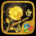 Golden Rose 3D Go Launcher Theme icon