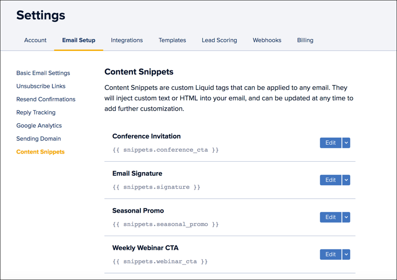 Drip Content Snippets: A New Way to Keep Your Automated Emails Fresh