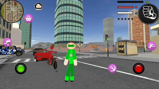 PC u7528 Green Stickman Rope Hero Gangstar Crime 1