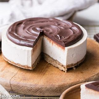 No-Bake Vanilla Bean Cheesecake with Chocolate Ganache (Gluten Free, Paleo + Vegan) Recipe