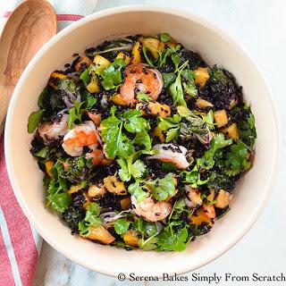 Asian Shrimp and Black Rice Salad.