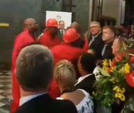 EFF MPs got into a scuffle after the state of the nation address on Thursday.