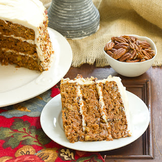Carrot Cake with Caramel Filling.