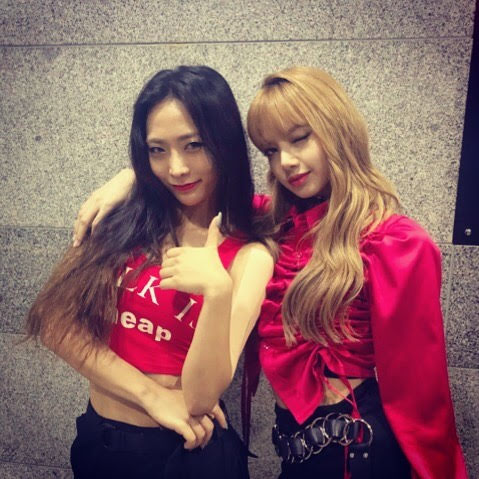 Ha Nee Jeong, otherwise known as Honey J (Left) and BLACKPINK's Lisa (Right)   @__honey.j__/Instagram