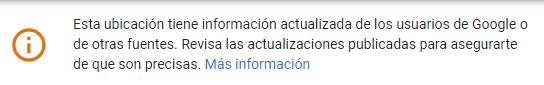 Mensaje de advertencia de Google indicando que hay cambios pendientes de revisar.