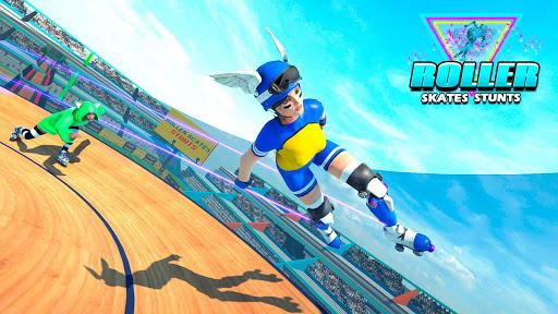 Sky Roller Skate Stunts Racing u2013 Impossible Tracks android2mod screenshots 3