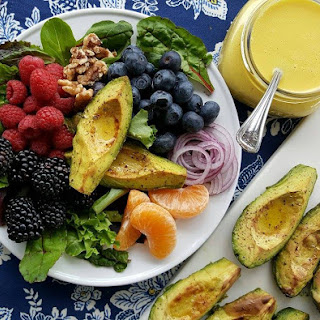 Roasted Avocado Salad with Orange-Citrus Vinaigrette.