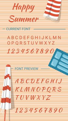 happy summer font for flipfont , cool fonts text screenshot 3