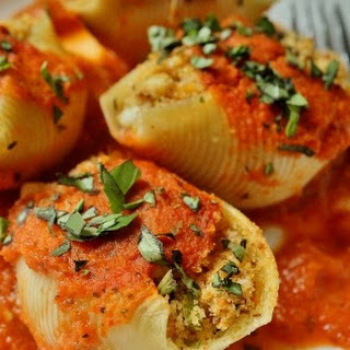 Crab-Stuffed Pasta Shells with Orange-Scented Tomato Sauce