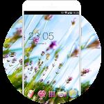 Lavender Theme: Wide Purple Flower Wallpaper HD Icon