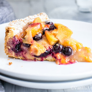 Blueberry Peach Cobbler-Tart