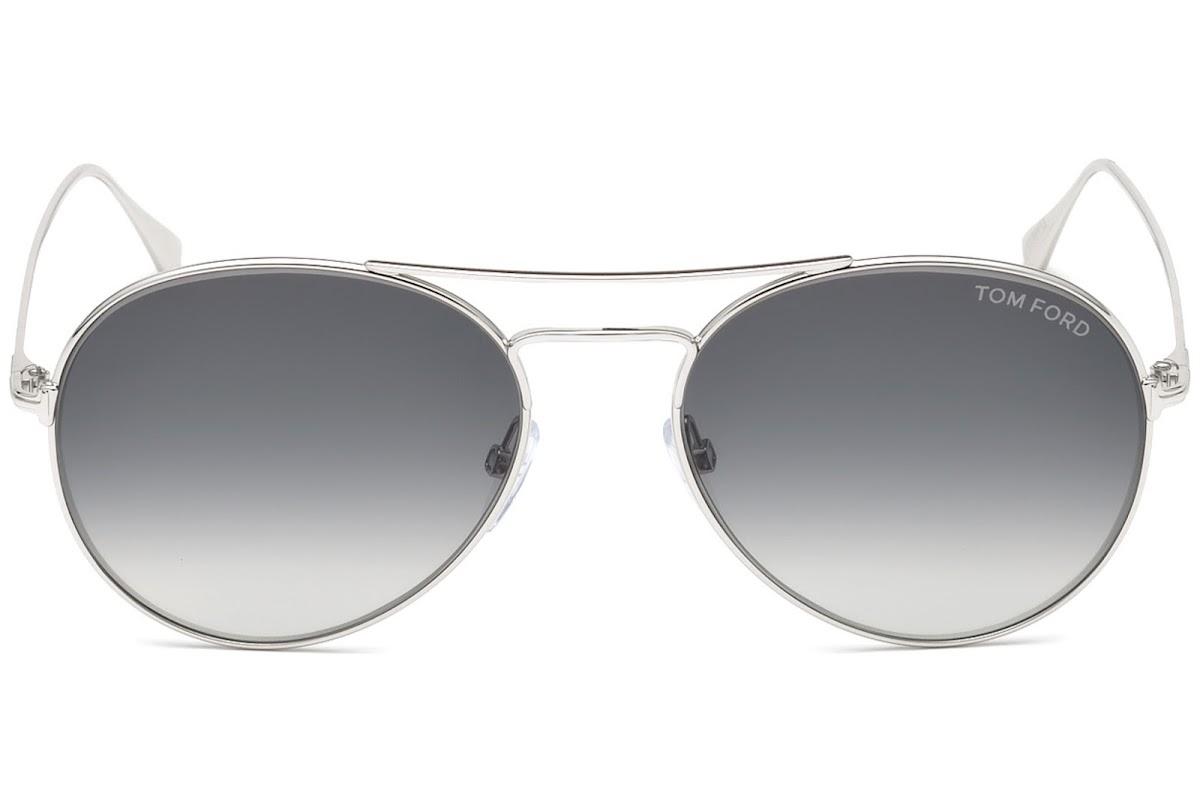 Lunettes de soleil Tom Ford Ace-02 FT0551 C55 18B (shiny rhodium   gradient  smoke) e0a7e79966a5