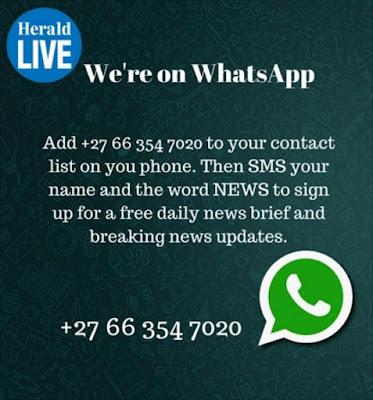 We're on WhatsApp!