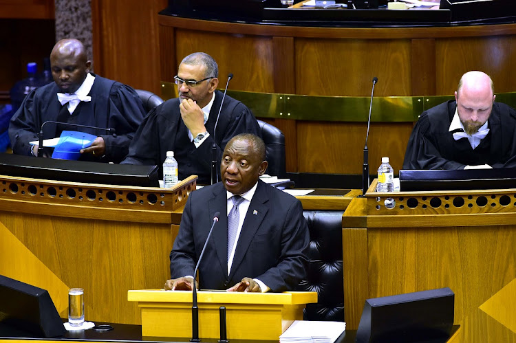 President Cyril Ramaphosa replying to questions orally in the National Assembly in Parliament, Cape Town. Picture: ELMOND JIYANE/GCIS