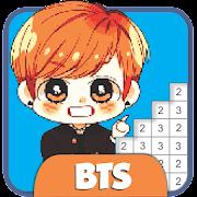 BTS Pixel Art - Paint by Number Coloring Books
