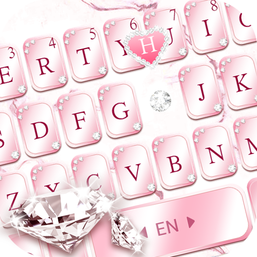 Pink Lovely Diamond Marble Keyboard Theme Icon