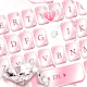 Pink Lovely Diamond Marble Keyboard Theme apk
