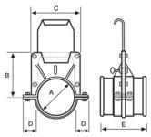 duting blast gate dampers diagram