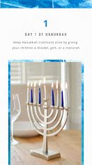 Day 1 of Hanukkah - Facebook Story item