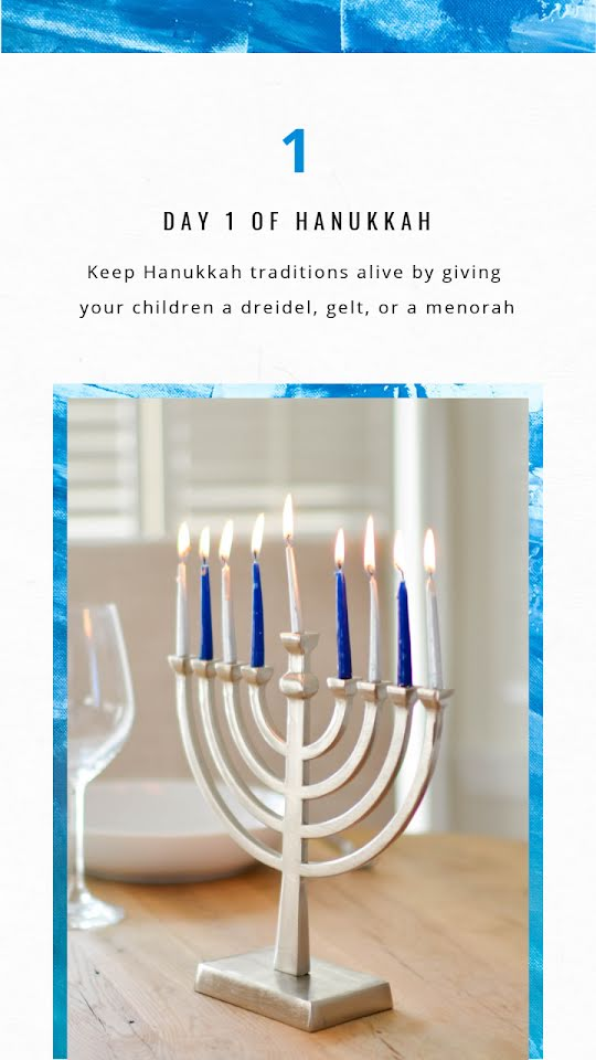 Day 1 of Hanukkah - Hanukkah Template