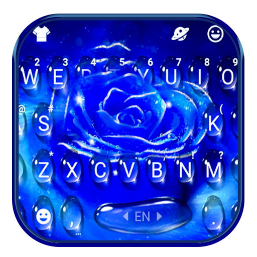 Silver Blue Rose Keyboard Theme Android APK Download Free By Powerful Phone