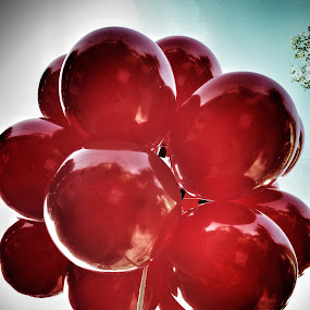 take me higher by Erl de Jose - Artistic Objects Other Objects ( up close, reds, flying colors, balloons, objects,  )