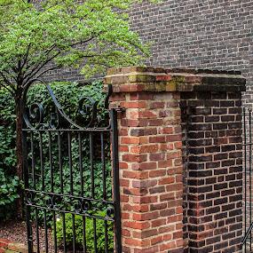 The Gate by Craig Pifer - City,  Street & Park  Neighborhoods ( brick, street, virginia, alexandria, gate )