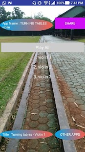 TURNING TABLES violin - náhled