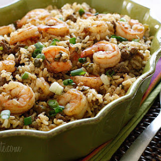 Dirty Brown Rice with Shrimp Recipe
