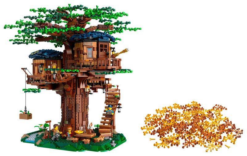 Contenido de Lego® 21318 Casa del Árbol