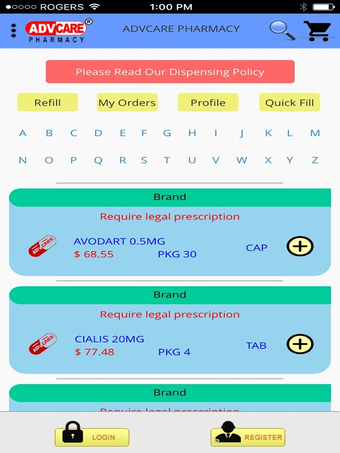 ADV-Care Pharmacy- RX Services- screenshot