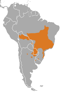 Range of Maned Wolf