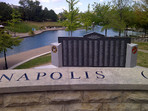 Photo: USS Indpls Monument on Central Canal, Athenaeum walk, Indianapolis IN