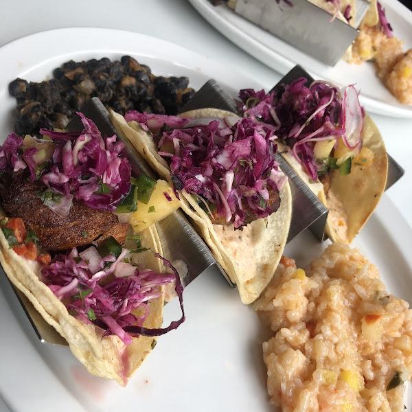 Monk fish tacos
