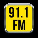 91.1 fm radio app radio apps for android icon