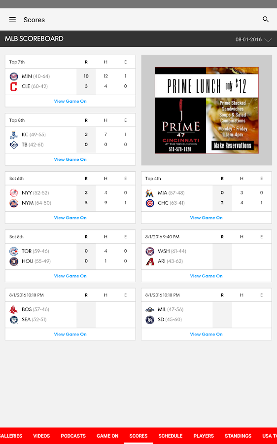 Cincinnati.com Reds Baseball- screenshot