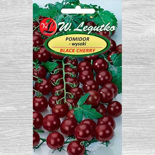 Pomidor gruntowy wysoki Black Cherry obraz 1