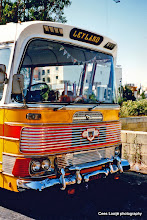 Photo: 1996-07-06. Malta. Bugibba bus terminus.  www.loki-travels.eu