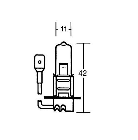 H3 Incandescent lamp 12V 55W, PK 22S
