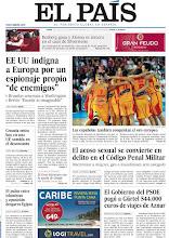 """Photo: EE UU indigna a Europa por un espionaje propio """"de enemigos"""", Croacia entra este lunes en una UE sumida en el desencanto y la selección femenina de baloncesto conquista el oro europeo, en nuestra portada del lunes 1 de julio http://srv00.epimg.net/pdf/elpais/1aPagina/2013/07/ep-20130701.pdf"""